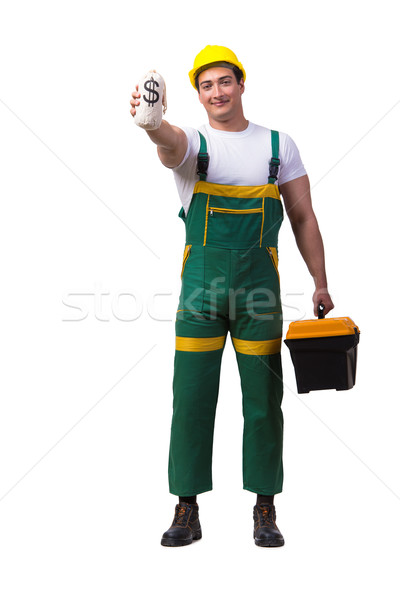 Man with toolbox isolated on the white background Stock photo © Elnur