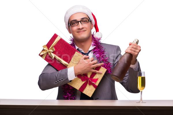 Сток-фото: молодые · бизнесмен · Рождества · служба · бизнеса