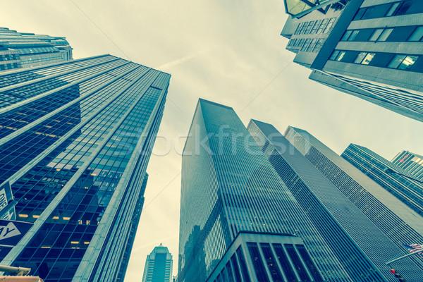新しい 高層ビル 通り レベル オフィス 市 ストックフォト © Elnur