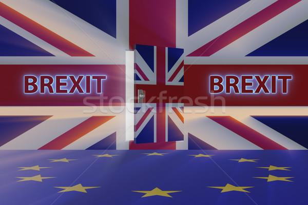 Brexit concept - UK leaving UE - 3d rendering Stock photo © Elnur
