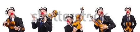 Engraçado violino branco música dançar dança Foto stock © Elnur