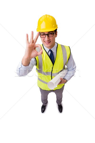Construcción supervisor aislado blanco negocios oficina Foto stock © Elnur