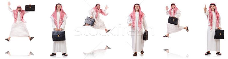Arab man geïsoleerd witte business gelukkig Stockfoto © Elnur