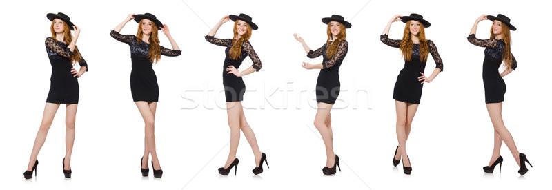 Komik Meksika geniş kenarlı şapka şapka kadın dansçı Stok fotoğraf © Elnur