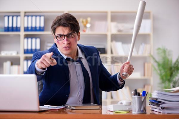 Arrabbiato aggressivo imprenditore ufficio uomo lavoro Foto d'archivio © Elnur