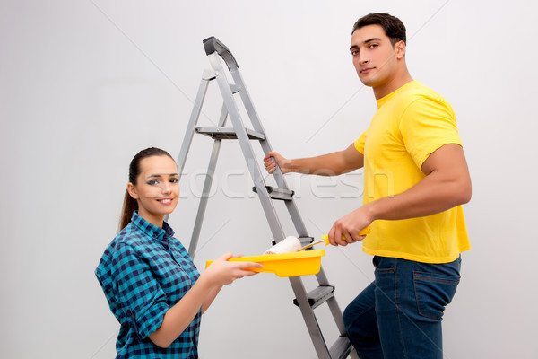 Wife and husband family doing home improvements Stock photo © Elnur