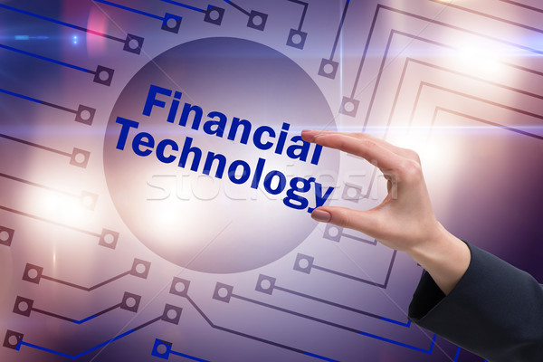 Hand holding financial technology fintech concept Stock photo © Elnur