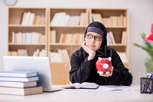 Muslim girl in hijab studying preparing for exams Stock photo © Elnur