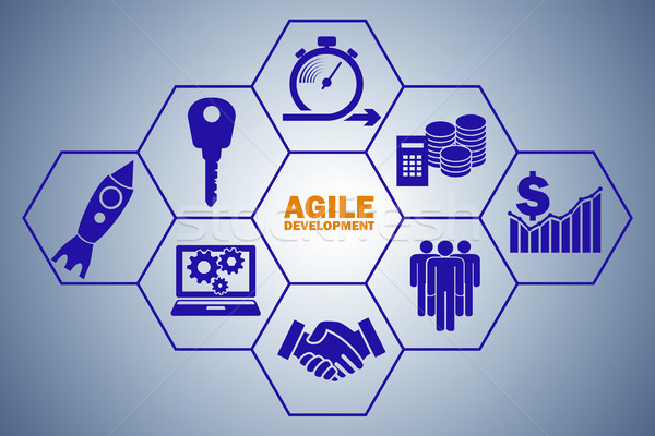 Concept of agile software development Stock photo © Elnur