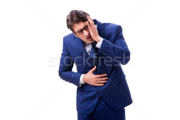 больным несчастный бизнесмен изолированный белый продовольствие Сток-фото © Elnur