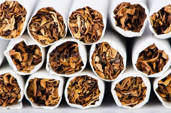 Foto stock: Cigarros · médico · saúde · fumar · branco