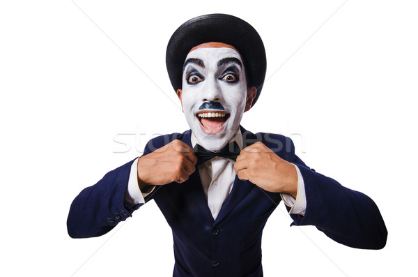 Funny man with face paint Stock photo © Elnur