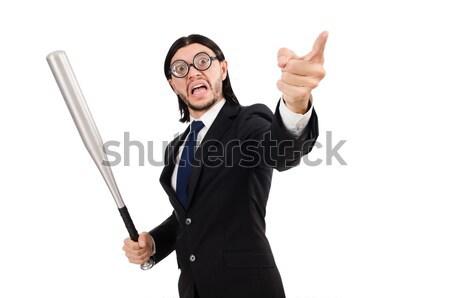 Violento homem taco de beisebol branco cara fundo Foto stock © Elnur