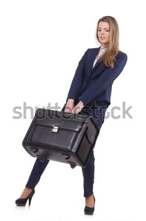 Viaggio vacanze bagaglio bianco business ragazza Foto d'archivio © Elnur