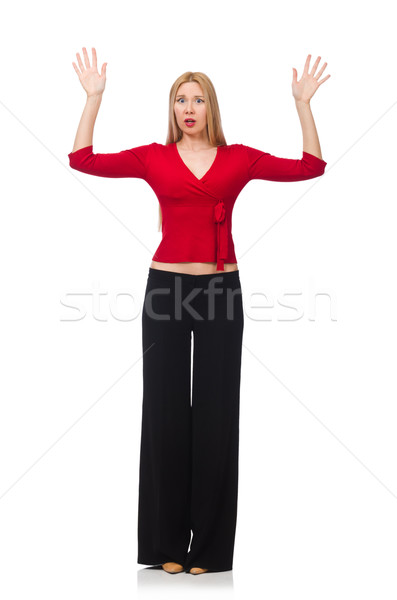 Young woman in flared pants isolated on white Stock photo © Elnur