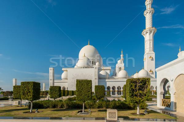 Cami Abu Dabi şehir dizayn Asya panorama Stok fotoğraf © Elnur