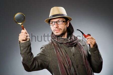 Woman gangster with gun in vintage concept Stock photo © Elnur