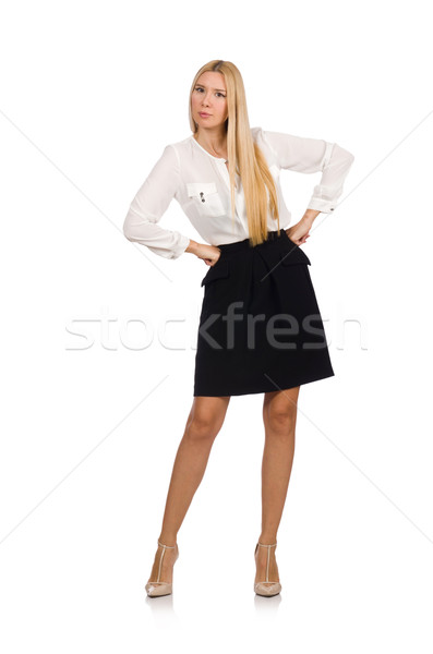 Businesswoman in business concept isolated on white Stock photo © Elnur