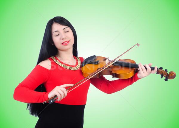 Jovem violino branco arte concerto preto Foto stock © Elnur