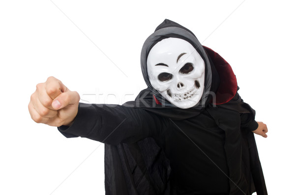 Man in horror costume with mask isolated on white Stock photo © Elnur
