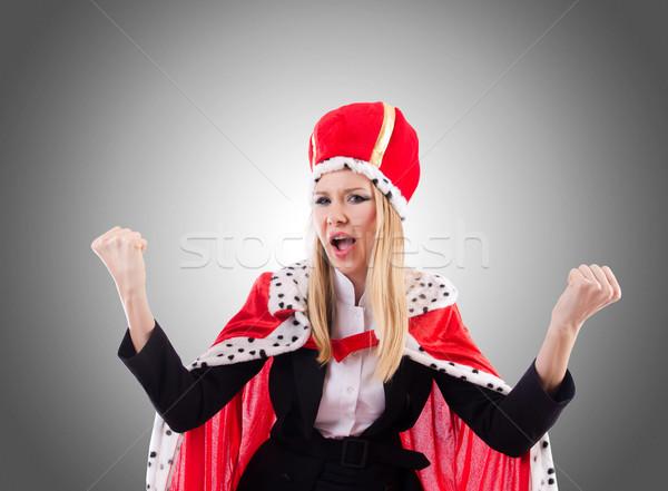 女性実業家 ロイヤル スーツ 勾配 作業 ビジネスマン ストックフォト © Elnur