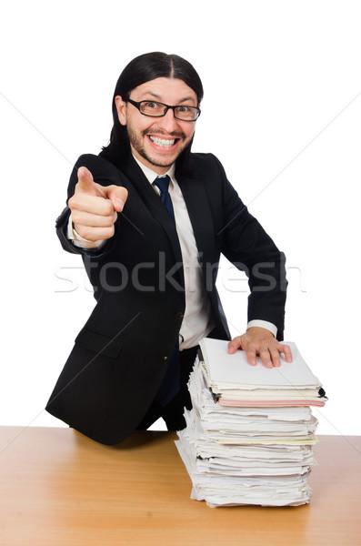 ビジネスマン 書類 男 作業 ストックフォト © Elnur