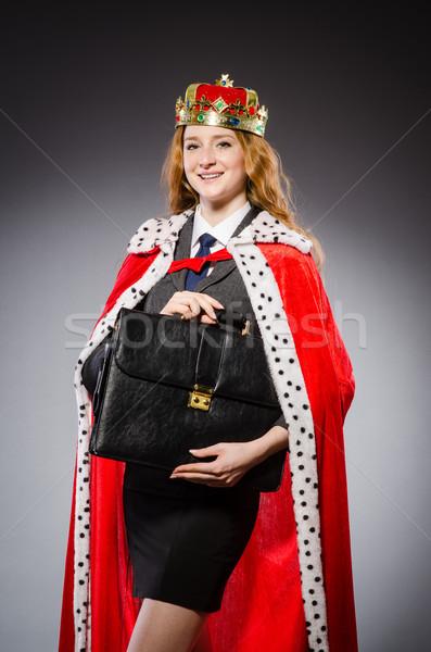 женщину королева деловая женщина смешные работу бизнесмен Сток-фото © Elnur