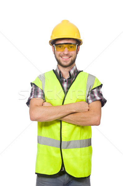 Przemysłowych pracownika odizolowany biały działalności człowiek Zdjęcia stock © Elnur