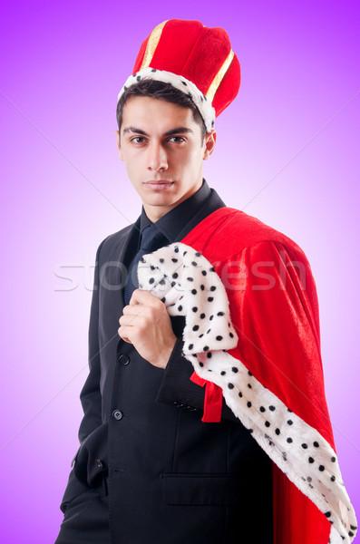 Empresário jogar rei gradiente executivo retrato Foto stock © Elnur