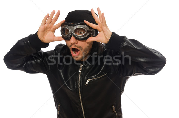 Young man with aviator glasses on white Stock photo © Elnur