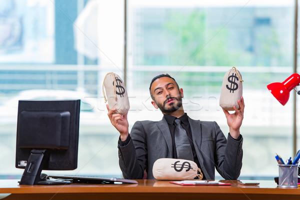 Boldog üzletember pénz iroda üzlet munka Stock fotó © Elnur