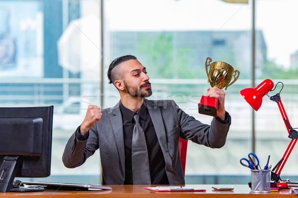 Imprenditore vincente Cup trofeo ufficio business Foto d'archivio © Elnur