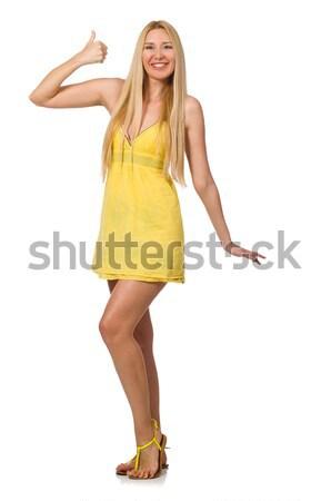 白人 公正 モデル 黄色 夏 ドレス ストックフォト © Elnur