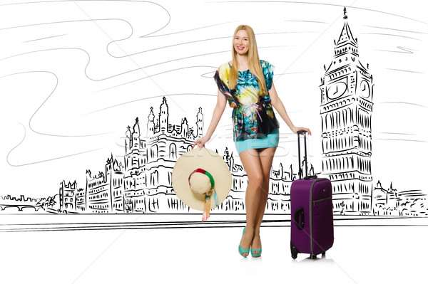 Young woman travelling to London in UK Stock photo © Elnur