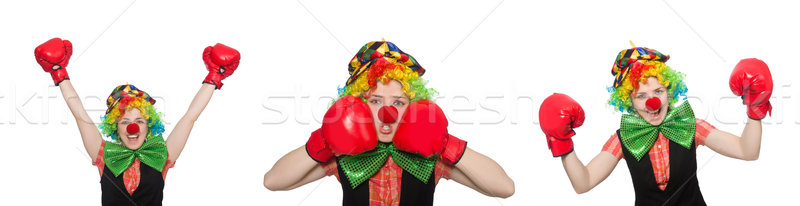 Clown in various poses isolated on white Stock photo © Elnur
