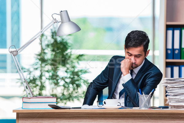 Businessman working in the office  Stock photo © Elnur