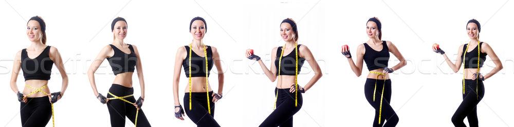 Femme centimètre santé fille muscle grasse Photo stock © Elnur
