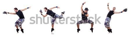 Danser dansen geïsoleerd witte naakt man Stockfoto © Elnur