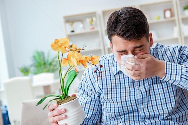 Adam alerji tıbbi çiçek gıda Stok fotoğraf © Elnur