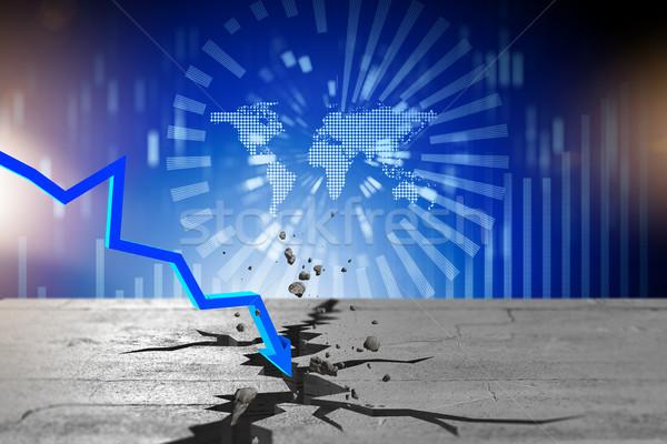 Traçar crise financeira 3D mercado Foto stock © Elnur