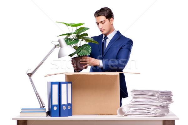 üzletember férfi munka doboz munkás állás Stock fotó © Elnur
