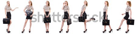 The pregnant woman in composite image isolated on white Stock photo © Elnur