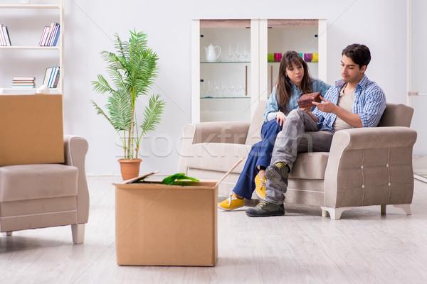 小さな 家族 移動 新しい アパート ストックフォト © Elnur
