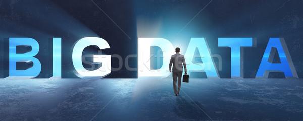 Big Data concept with businessman Stock photo © Elnur