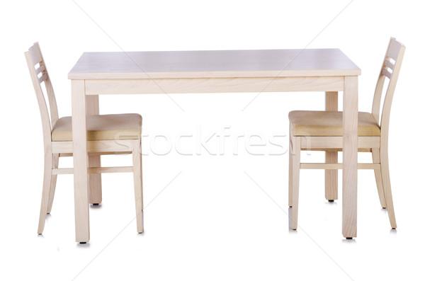Stok fotoğraf: Mobilya · ayarlamak · tablo · sandalye · iş · arka · plan