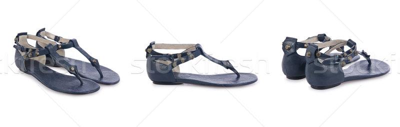 обувь изолированный белый моде фон черный Сток-фото © Elnur