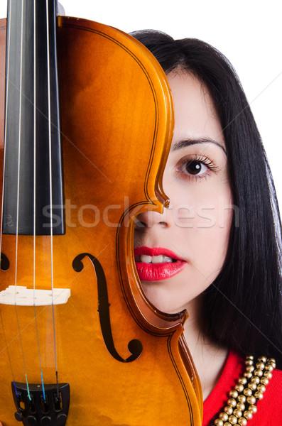 Сток-фото: скрипки · белый · женщину · концерта · звук