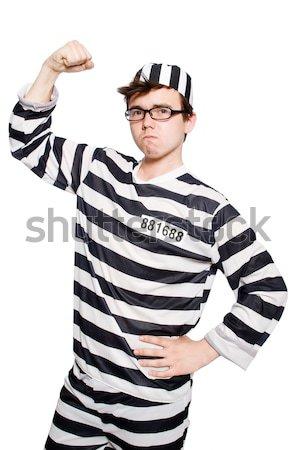 Gevangene slechte witte gezicht recht politie Stockfoto © Elnur