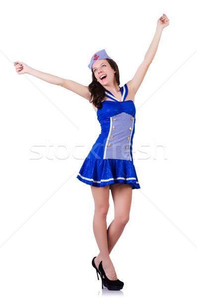 女性 船乗り 海洋 笑顔 ファッション 夏 ストックフォト © Elnur