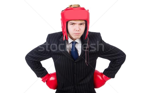 смешные Боксер бизнесмен спорт бизнеса стороны Сток-фото © Elnur